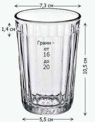 Чертеж граненого стакана