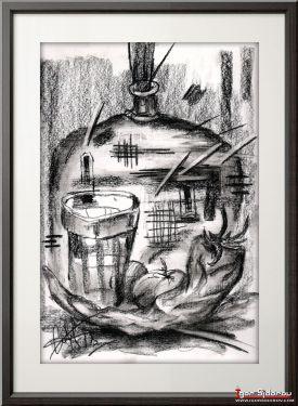 Граненый стакан и перец