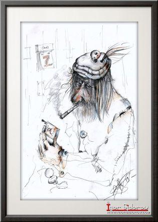 Спички из СССР. Рисунок карандашом.