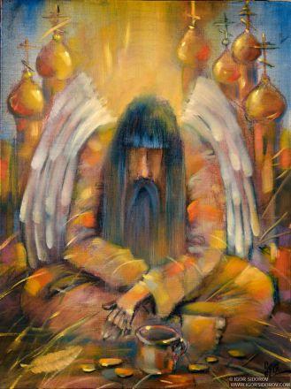 Картина Забытый ангел. Холст, масло. Современная живопись.