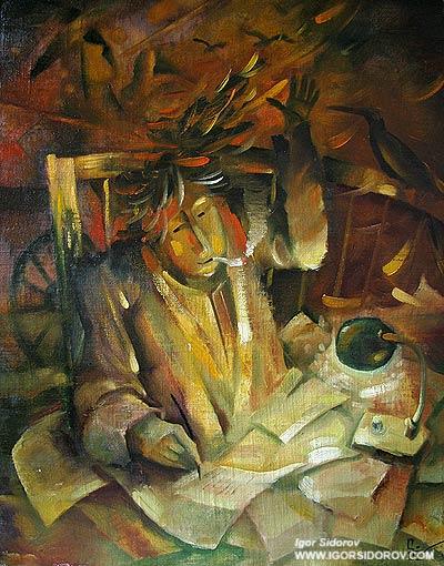 Творец — х.м. 42x62 — художник Игорь Сидоров